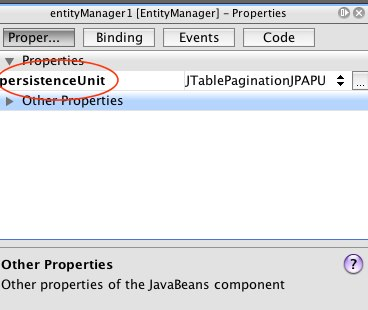 entitymanager properties