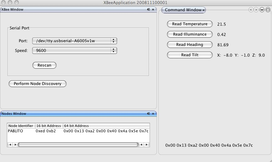 Arduino xbee sensor temperature tilt compass and