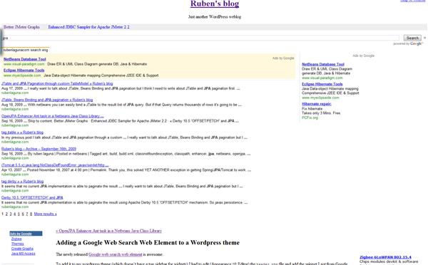 Adding a Google Search Web Element to a Wordpress theme