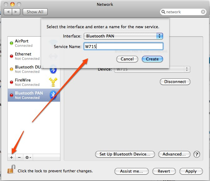 Connect to the internet via Bluetooth PAN with Mac OS X Snow